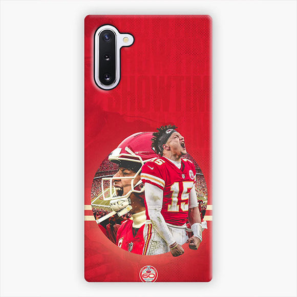 Patrick Mahomes Kansas City Chiefs Expression Samsung Galaxy Note 10 Case, Snap 3D Case