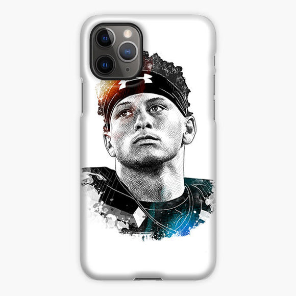 Patrick Mahomes Sketch Art Drawing iPhone 11 Pro Max Case, Plastic Case, Snap Case & Rubber Case