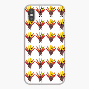 Pattern With Cute Turkeys And Maple Leaves iPhone 8 Plus Case
