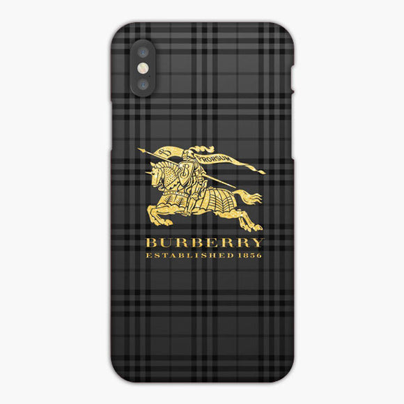 Plaid Brown Prosum Burberry iPhone XS Max Case, Plastic Case, Snap Case & Rubber Case