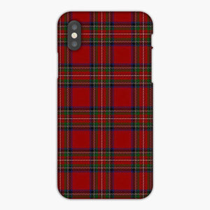 Plaid Pattren Red Green iPhone XS Max Case, Plastic Case, Snap Case & Rubber Case