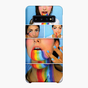 Rachel Levin Halloween Makeup Looks Samsung Galaxy S10 Plus Case, Snap Case 3D Print