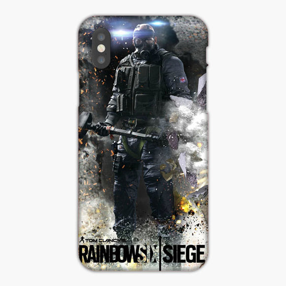 Rainbow Six Siege Flag Of England Brush Black iPhone XS Max Case, Plastic Case, Snap Case & Rubber Case