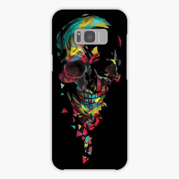 Rainbow The Skull Samsung Galaxy S8 Plus Case, Snap Case 3D Print