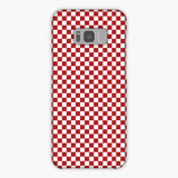 Red And White Checkered Flag Samsung Galaxy S8 Plus Case, Snap Case 3D Print