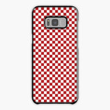 Red And White Checkered Flag Samsung Galaxy S8 Plus Case, Tough Case