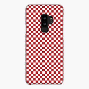 Red And White Checkered Flag Samsung Galaxy S9 Case, Snap Case 3D Print