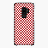 Red And White Checkered Flag Samsung Galaxy S9 Case, Tough Case