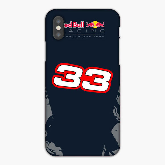 Red Bull Carbon Racing Formula One 33 White Red iPhone XR Case, Plastic Case, Snap Case & Rubber Case