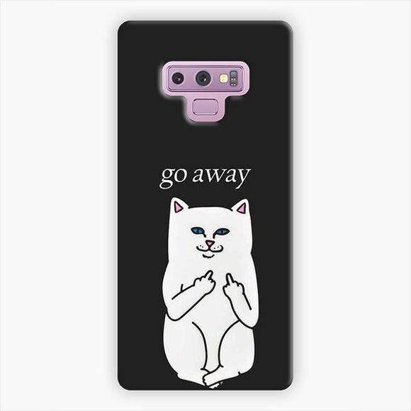 Ripndip Go Away Samsung Galaxy Note 9 Case, Snap 3D Case
