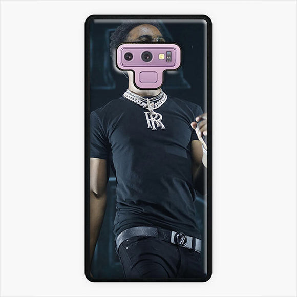 Roddy Ricch R R Samsung Galaxy Note 9 Case, White Plastic & Rubber Case