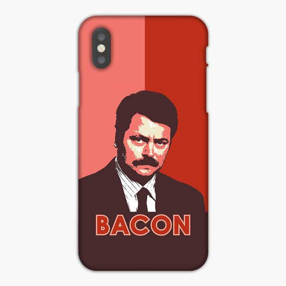 Ron Swanson Bacon iPhone XS Max Case, Snap 3D Case