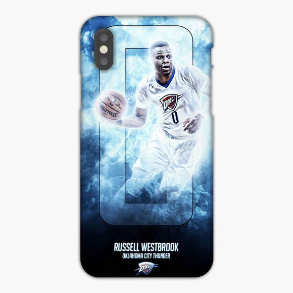 Russell Westbrook Oklahoma City Thunder iPhone XS Max Case, Plastic Case, Snap Case & Rubber Case