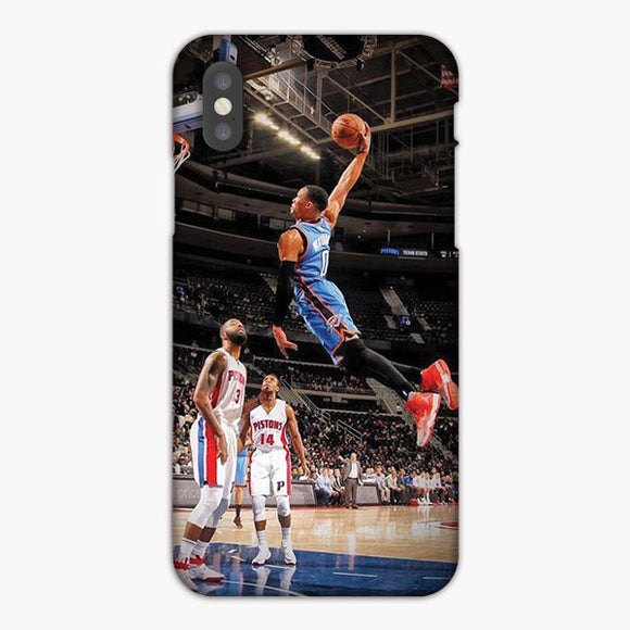 Russell Westbrook Thunders Flying Dunk iPhone 7 Plus Case