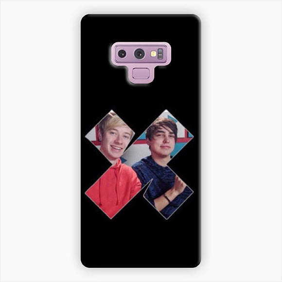 Sam And Colby Xplr Black Samsung Galaxy Note 9 Case, Snap 3D Case