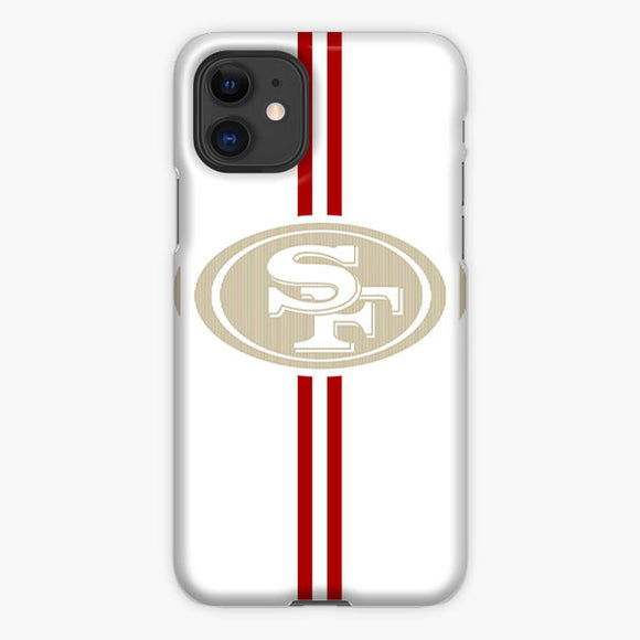 San Francisco 49ers Logo Strips White Red iPhone 11 Case, Plastic Case, Snap Case & Rubber Case