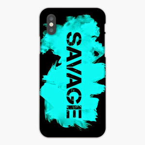 Savage Basic Brush Light Green Black iPhone XR Case, Plastic Case, Snap Case & Rubber Case