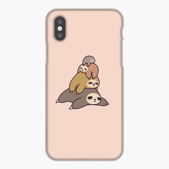 Sloth Stack iPhone XS Max Case, Plastic Case, Snap Case & Rubber Case