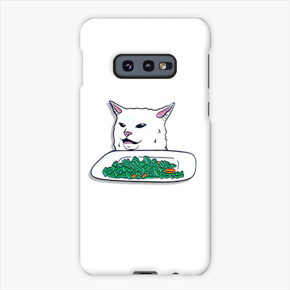 Smudge The Cat With Vegetals Samsung Galaxy S10e Case, Plastic Case, Snap Case & Rubber Case