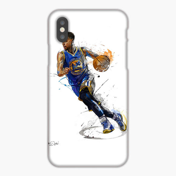 Stephen Curry Illustration Golden State Warriors Blue Yellow iPhone XR Case, Plastic Case, Snap Case & Rubber Case