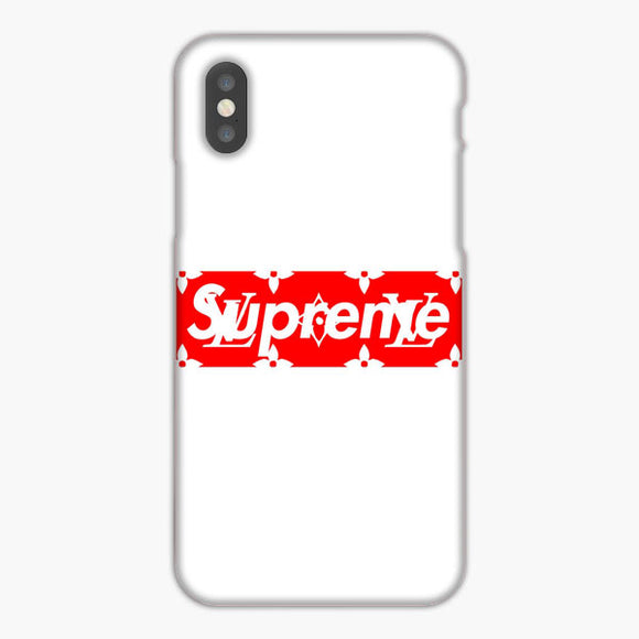 Supreme Louis Vuitton Logo White Red iPhone XS Max Case, Plastic Case, Snap Case & Rubber Case