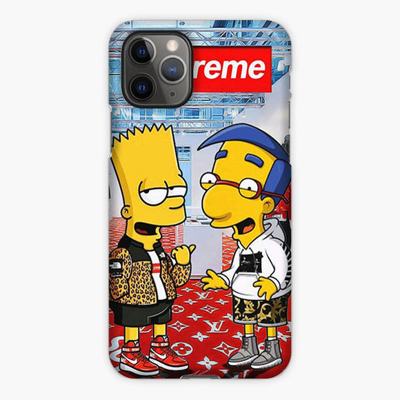 Supreme Simpsons Louis Vuitton Logo Red Yellow iPhone 11 Pro Case, Plastic Case, Snap Case & Rubber Case