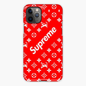 Supreme X Louis Vuitton Red Pattern iPhone 11 Pro Case