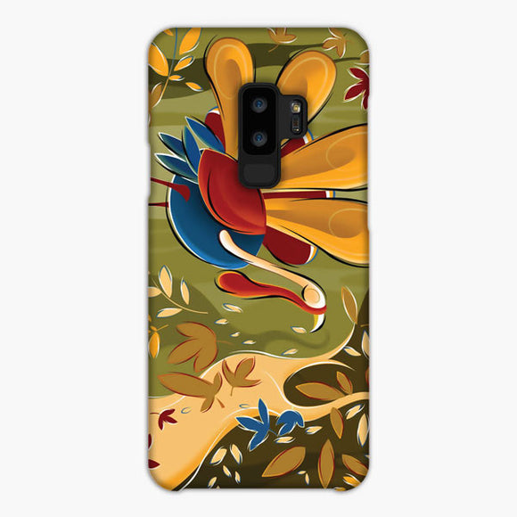 Thanksgiving Day Turkey Falling Leaves Samsung Galaxy S9 Plus Case, Snap Case 3D Print