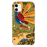 Thanksgiving Day Turkey Falling Leaves iPhone 11 Case