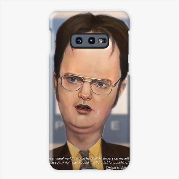 The Office Artstation Dwight Schrute Samsung Galaxy S10e Case, Plastic Case, Snap Case & Rubber Case