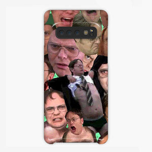 The Office Dwight Schrute Collage Meme Samsung Galaxy S10 Case, Plastic Case, Snap Case & Rubber Case
