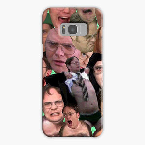 The Office Dwight Schrute Collage Meme Samsung Galaxy S8 Case, Plastic Case, Snap Case & Rubber Case