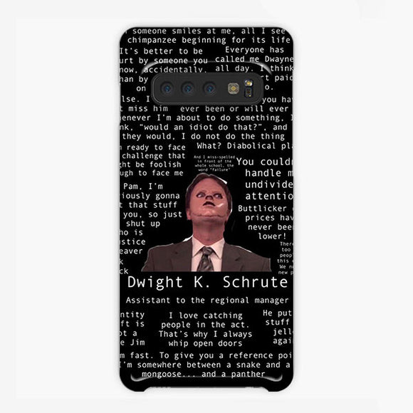 The Office Dwight Schrute When Someone Smile Samsung Galaxy S10 Plus Case, Plastic Case, Snap Case & Rubber Case