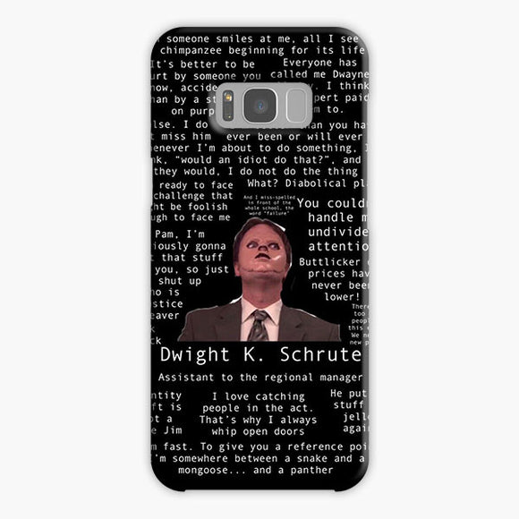 The Office Dwight Schrute When Someone Smile Samsung Galaxy S8 Plus Case, Plastic Case, Snap Case & Rubber Case