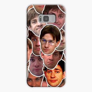 The Office Jim Halpert Collage Meme Samsung Galaxy S8 Case, Plastic Case, Snap Case & Rubber Case