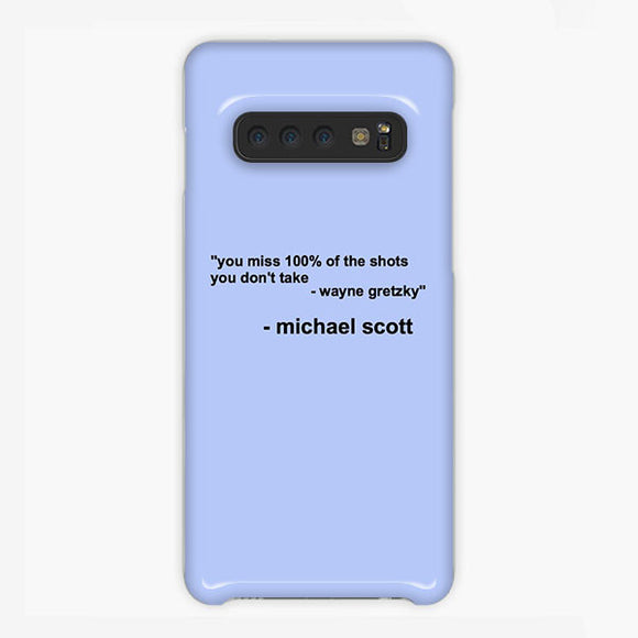The Office Michael Scott Quotes Samsung Galaxy S10 Plus Case, Plastic Case, Snap Case & Rubber Case
