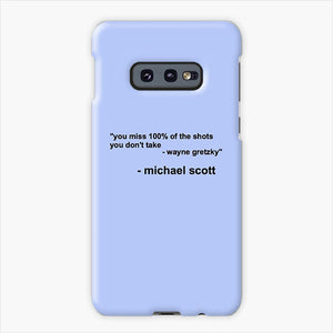 The Office Michael Scott Quotes Samsung Galaxy S10e Case, Plastic Case, Snap Case & Rubber Case