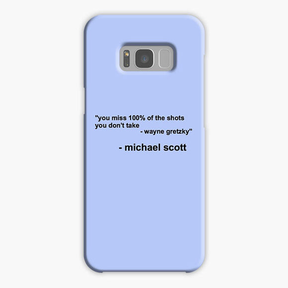 The Office Michael Scott Quotes Samsung Galaxy S8 Case, Plastic Case, Snap Case & Rubber Case