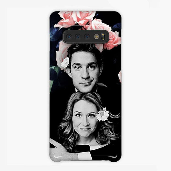 The Office Pam Beesly And Jim Samsung Galaxy S10 Plus Case, Plastic Case, Snap Case & Rubber Case