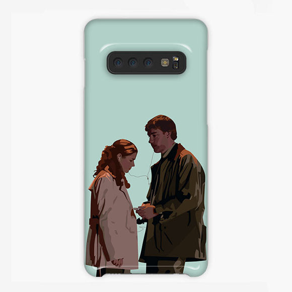 The Office Pam Beesly Cartoon Samsung Galaxy S10 Plus Case, Plastic Case, Snap Case & Rubber Case