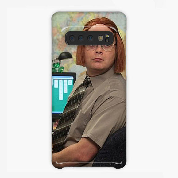 The Office Show Schrute Has Wigs Samsung Galaxy S10 Case, Plastic Case, Snap Case & Rubber Case