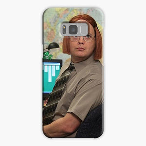 The Office Show Schrute Has Wigs Samsung Galaxy S8 Case, Plastic Case, Snap Case & Rubber Case
