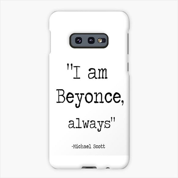 The Wise Words Of Michael Scott White Black Samsung Galaxy S10e Case, Plastic Case, Snap Case & Rubber Case