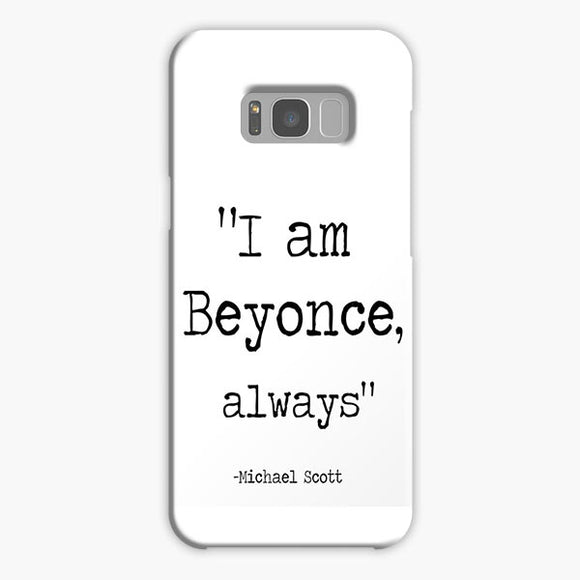 The Wise Words Of Michael Scott White Black Samsung Galaxy S8 Case, Plastic Case, Snap Case & Rubber Case
