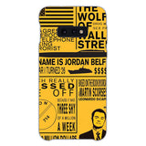 The Wolf Of Wall Street Be Aggressive Samsung Galaxy S10e Case, Snap Case 3D Print