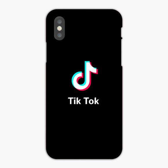 Tik Tok White Black iPhone XS Max Case, Plastic Case, Snap Case & Rubber Case