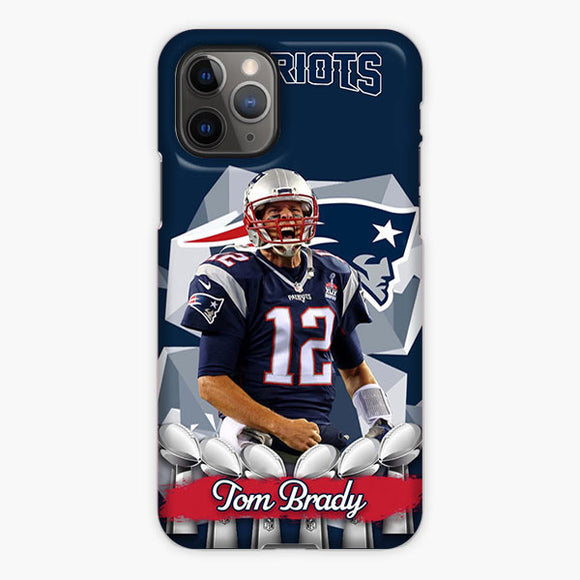 Tom Brady New England Patriots Logo Ball iPhone 11 Pro Max Case, Plastic Case, Snap Case & Rubber Case