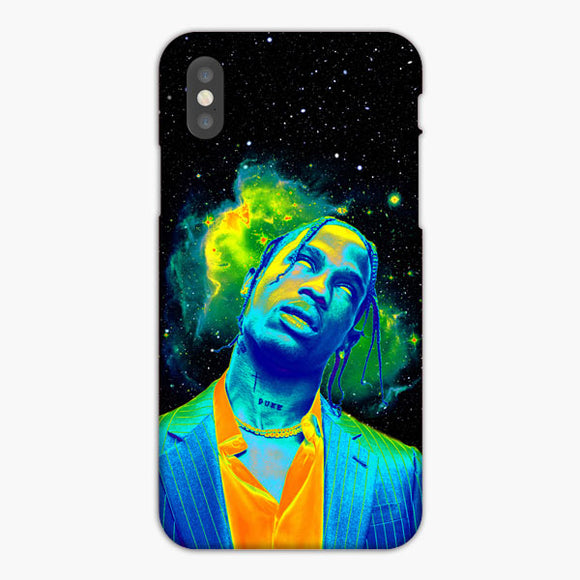 Travis Scott Brush Smoke Green Galaxy iPhone XR Case, Plastic Case, Snap Case & Rubber Case