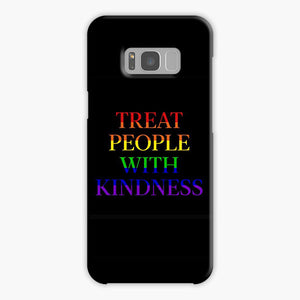 Treat People With Kindness Rainbow Black Samsung Galaxy S8 Case, Plastic Case, Snap Case & Rubber Case