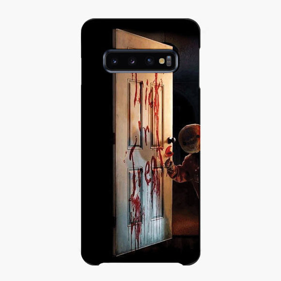 Trick Or Treat Opens The Door Samsung Galaxy S10 Plus Case, Snap Case 3D Print